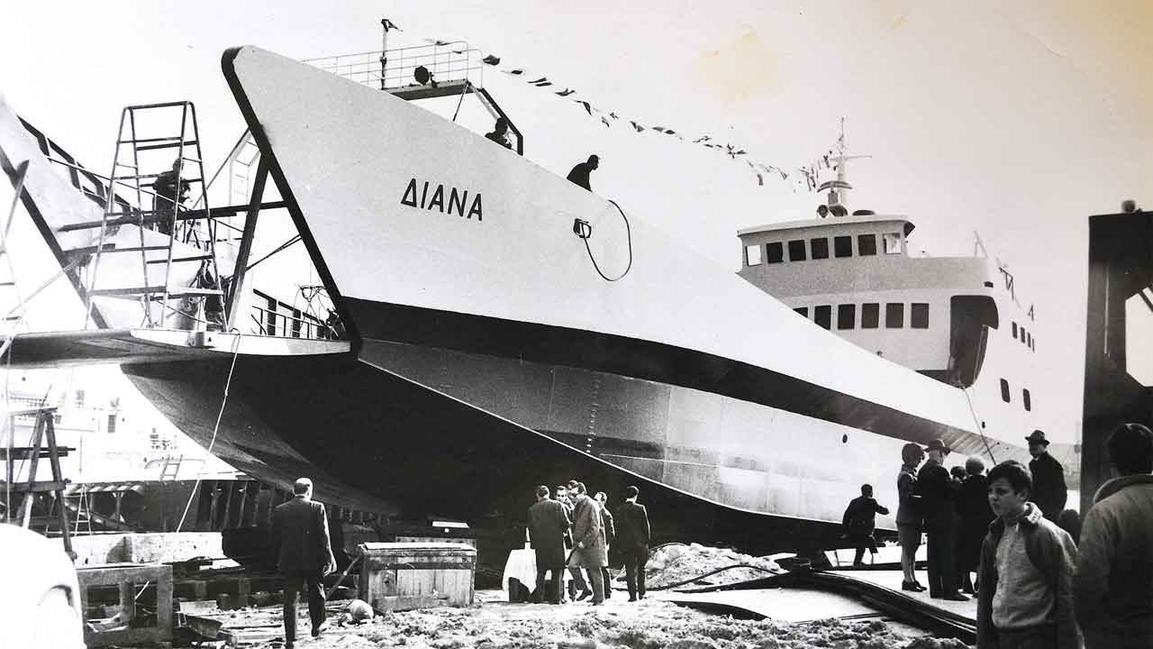 Bekris Shipyards historic shipbuilding projects - Diana