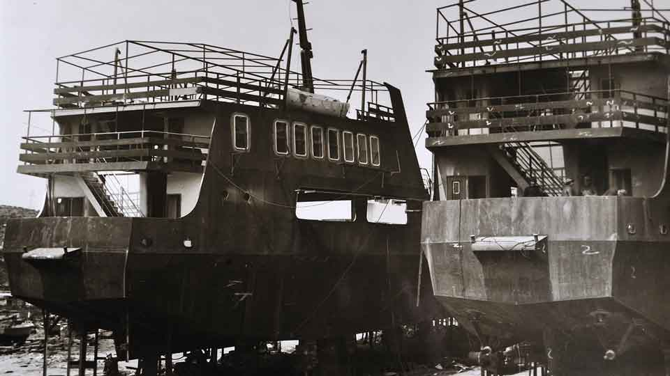 Bekris Shipyards historic shipbuilding projects
